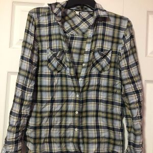 Aero blue and yellow flannel